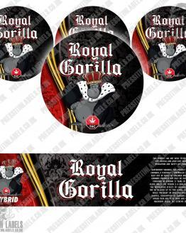 Royal Gorilla Jar Labels