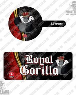 Royal Gorilla Tamper Proof Jar Labels