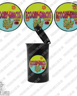 Scooby Snacks Cali Pop Top Labels