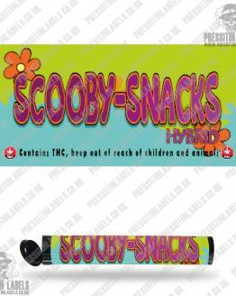 Scooby Snacks Pre Roll Labels