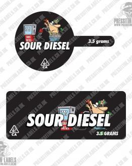 Sour Diesel Tamper Proof Jar Labels