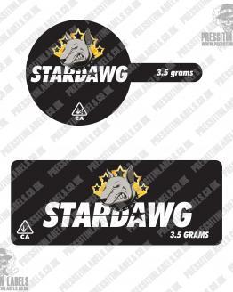 Stardawg Tamper Proof Jar Labels