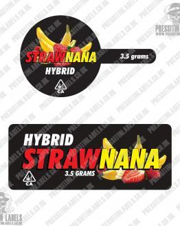 Strawnana Tamper Proof Jar Labels