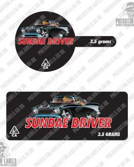 Sundae Driver Tamper Proof Jar Labels
