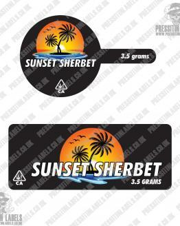 Sunset Sherbet Tamper Proof Jar Labels