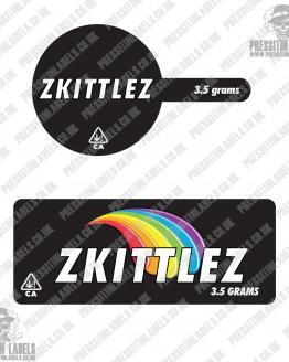 Zkittlez Tamper Proof Jar Labels