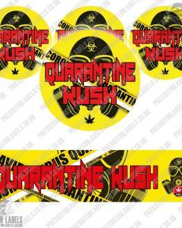 Quarantine Kush Glass Jar Labels