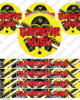 Quarantine Kush Pressitin Labels