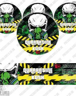 Quarantine Kush Type 2 Jar Labels