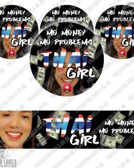 Thai Girl Jar Labels