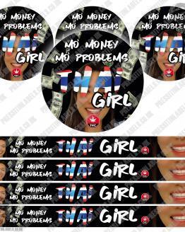 Thai Girl Pressitin Labels