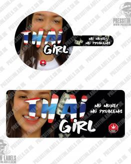 Thai Girl Tamper Proof Jar Labels
