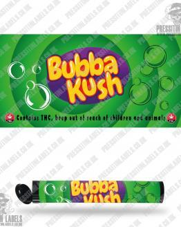 Bubba Kush Type 2 Pre Roll Labels