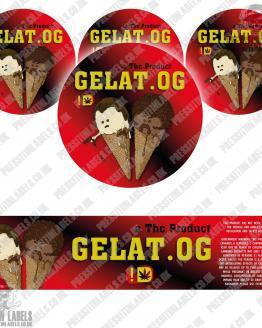 Gelat OG Jar Labels