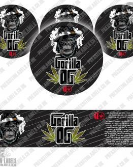 Gorilla OG Jar Labels
