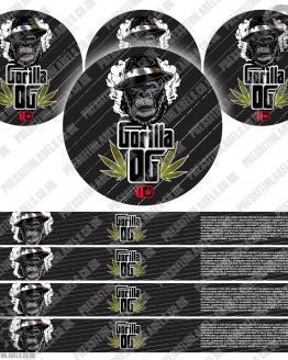Gorilla OG Pressitin Labels