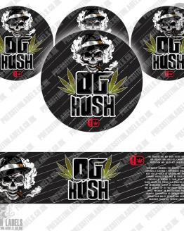 OG Kush Type 2 Jar Labels