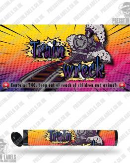 Train Wreck Pre Roll Labels