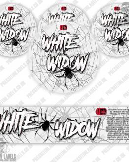 White Widow Jar Labels