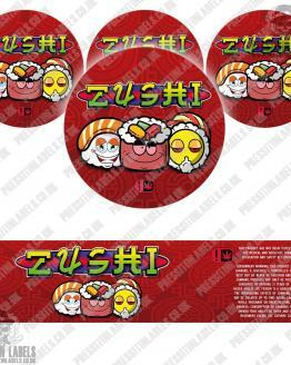 Zushi Jar Labels