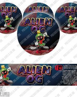 Alien OG Type 2 Jar Labels