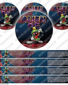 Alien OG Type 2 Pressitin Labels