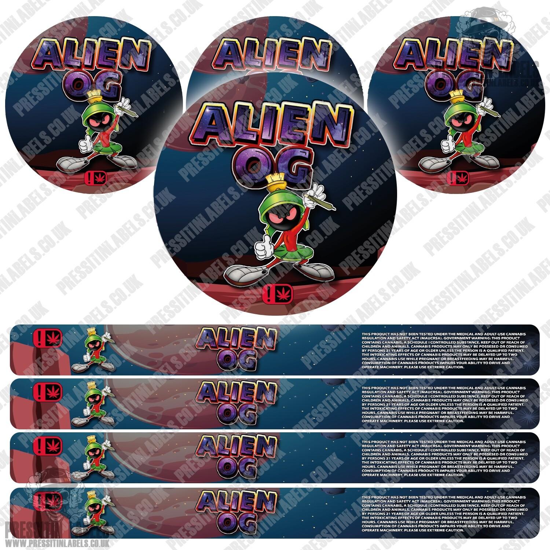Alien OG Type 2 Pressitin Labels