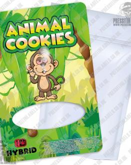Animal Cookies Mylar Bags