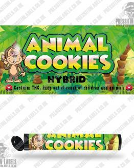 Animal Cookies Pre Roll Labels