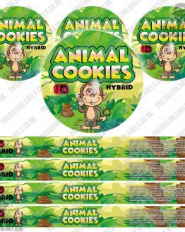Animal Cookies Pressitin Labels