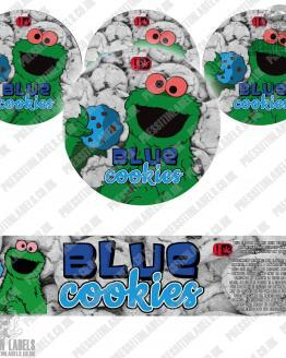 Blue Cookies Jar Labels