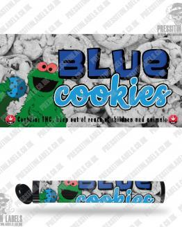 Blue Cookies Pre Roll Labels