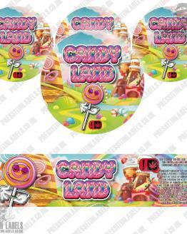Candy Land Jar Labels