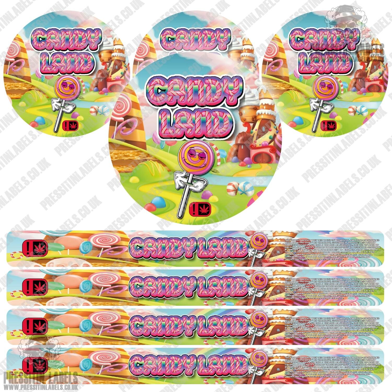 Candy Land Pressitin Labels