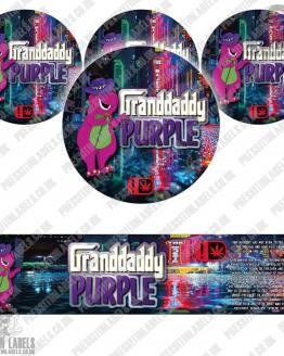 Granddaddy Purple Type 2 Jar Labels