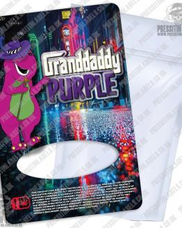 Granddaddy Purple Type 2 Mylar Bag Labels
