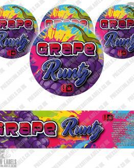Grape Runtz Jar Labels