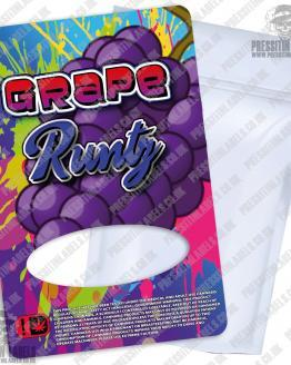 Grape Runtz Mylar Bag Labels
