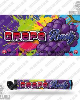 Grape Runtz Pre Roll Labels