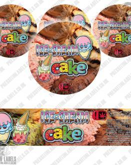 Ice Cream Cake Jar Labels