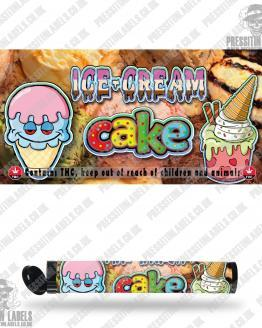 Ice Cream Cake Pre Roll Labels
