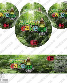 Jungle Cake Type 2 Jar Labels