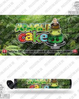 Jungle Cake Type 2 Pre Roll Labels
