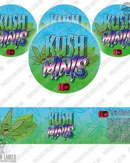 Kush Mints Jars Labels