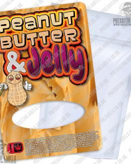 Peanut Butter and Jelly Mylar Bag Labels