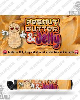 Peanut Butter and Jelly Pre Roll Labels