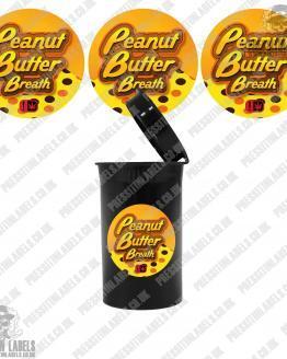 Peanut Butter Breath Pop Top Labels