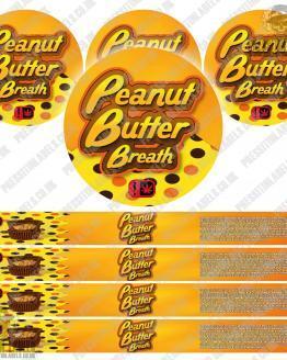 Peanut Butter Breath Pressitin Labels