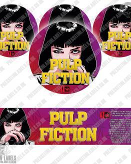 Pulp Fiction Jar Labels