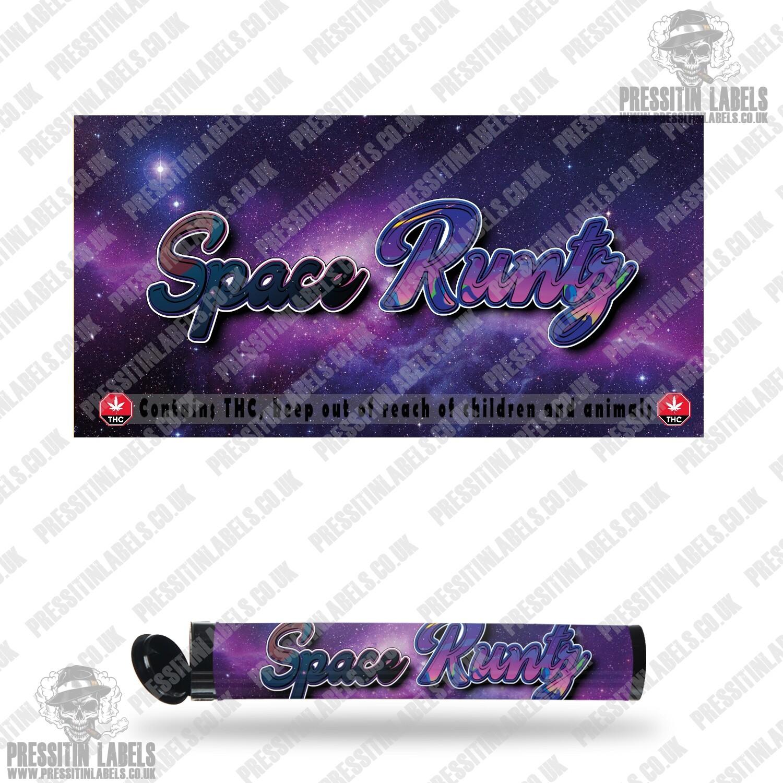 Space Runtz Pre Roll Labels